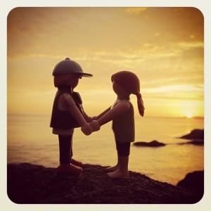 Playmobils enamorados