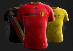Camiseta Bélgica Mundial 2014