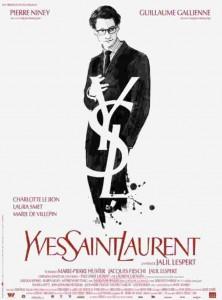 El cartel de la pelicula que habla sobre la biografia de Yves Saint Laurent