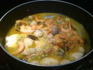 Cazuela de frutos del mar