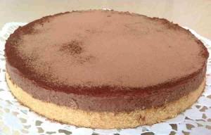Receta de pastel de chocolate y galleta